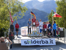 Siegerehrung Grasski-Juniorenweltmeisterschaft in San Sicario