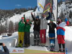 Siegerehrung JWM Valmalenco, Tim Hronek, Daniela Maier