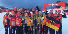 WM-Gold 2015 in Falun (SWE): Das DSV-Team feiert