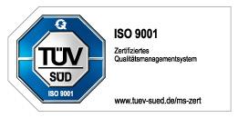 TÜV-Zertifizierung ISO 9001
