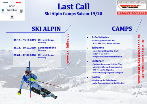 ArGe Ski Alpin Renncamps 2019/2020