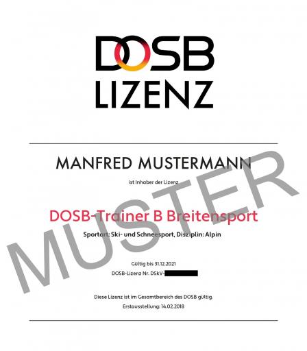 DOSB-Lizenzen in Bayern