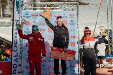 Johanna Holzmann, Telemark-Weltcup, Siegerehrung Pralognan-la-Vanoise (FRA)