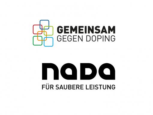 Logos NADA Gemeinsam gegen Doping