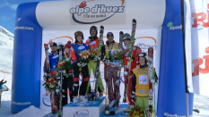 Weltcup in Alpe d'Huez (FRA) 2011 - Siegerpodest Damen und Herren
