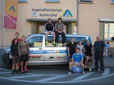 Europacup-Team in Karlsruhe
