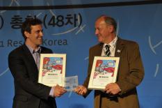 Preisverleihung FIS SnowKidz Award